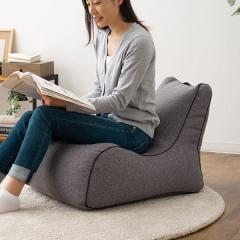 送料無料 ビーズクッション ソファ 一人掛け 日本製 コンパクト 座椅子 フロアソファ グレー