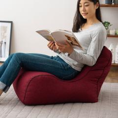 送料無料 ビーズクッション ソファ 一人掛け 日本製 コンパクト 座椅子 フロアソファ レッド