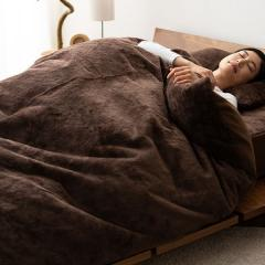 15%OFFクーポン対象商品 10%OFF 送料無料 掛け布団カバー +4℃の暖かさ シングル ブラウン 吸湿発熱 あったか 冬 冬用 防寒 洗える フランネル フリース クーポンコード:CKJNNWW