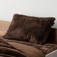 15%OFFクーポン対象商品 10%OFF 送料無料 枕カバー +4℃の暖かさ ブラウン 吸湿発熱 あったか 冬 冬用 防寒 洗える フランネル フリース クーポンコード:CKJNNWW