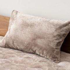 15%OFFクーポン対象商品 10%OFF 送料無料 枕カバー +4℃の暖かさ グレージュ 吸湿発熱 あったか 冬 冬用 防寒 洗える フランネル フリース クーポンコード:CKJNNWW
