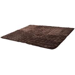 送料無料 あったかラグ +4℃の暖かさ 長方形 小 130×190cm ブラウン 吸湿発熱 あったか 厚手 ボリューム 冬 冬用 ふかふか