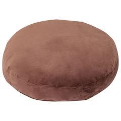 送料無料 ラウンドクッション ブラウン 丸型 円形 クッション ごろ寝 リビング インテリア プレゼント