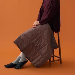 マルチケット ひざ掛け ブラウン ミニケット ショール 洗える 羽毛 ダウンケット 冬 冬用 防寒 リビング あったか プレゼント