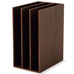 ブックスタンド ファイルスタンド 3連 レタースタンド 本立て 木製 デスク 小物収納 小物収納ケース 小物入れ デスク周り デザイン おしゃれ 書類収納 整理整頓 新生活 一人暮らし 北欧 ウォールナット