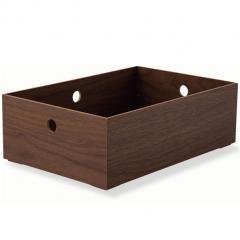 小物入れ ハーフサイズ 収納ボックス ウッドボックス 木製 デスク 小物収納 小物収納ケース 卓上収納 デスク周り デザイン おしゃれ 整理整頓 新生活 一人暮らし 北欧 ウォールナット