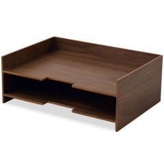 レタートレー 小物トレー レターボックス 書類入れ A4 小物入れ 木製 フルサイズ デスク 小物収納 小物収納ケース 卓上収納 デスク周り デザイン おしゃれ 整理整頓 新生活 一人暮らし 事務用品 北欧 ウォールナット