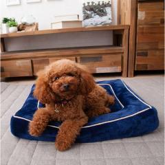 neDOGko (ねどっこ) 送料無料 3Dローベッド Lサイズ ペットベッド ペット用 シニア パピー 老犬 介護 固綿 カバー 洗える クッション 成犬 子犬 犬 猫 フランネル カドラー 立ち上がり 低め ネイビー