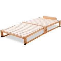 <LOHACO> 【送料無料】ヒノキの折りたたみベッド ひのき 檜 桧 国産 日本製 木製 収納 コンパクト 布団用 通気性 天然木 ヒノキ無垢材 すのこ すのこベッド スノコベッド新生活 北欧 シンプル 桐 bed画像