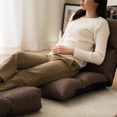 送料無料 リクライニングチェア ブラウン 座椅子 日本製 座いす リクライニング座椅子「リーヴァ3」 オットマン付き フロアチェア 一人用ソファー リクライニング ハイバック ソファ ソファ- チェア 1人掛 ごろ寝 新生活 母の日 父の日