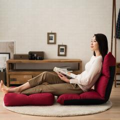 送料無料 リクライニングチェア レッド 座椅子 日本製 座いす リクライニング座椅子「リーヴァ3」 オットマン付き フロアチェア 一人用ソファー リクライニング ハイバック ソファ ソファ- チェア 1人掛 ごろ寝 新生活 母の日 父の日