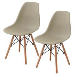 送料無料 イームズチェア ダイニングチェア 2脚セット チェア 椅子 イームズ 北欧 木脚 サンドベージュ