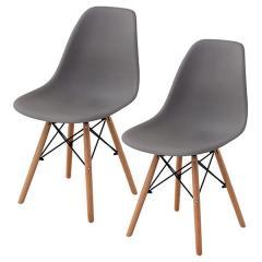 送料無料 イームズチェア ダイニングチェア 2脚セット チェア 椅子 イームズ 北欧 木脚 ストーングレー