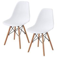 送料無料 イームズチェア ダイニングチェア 2脚セット チェア 椅子 イームズ 北欧 木脚 スノーホワイト