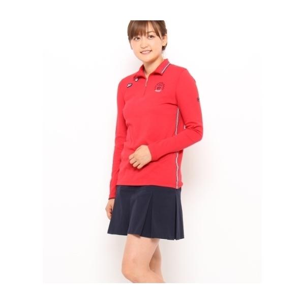 COOL&DRYストレッチカノコジップアップ長袖ポロシャツ