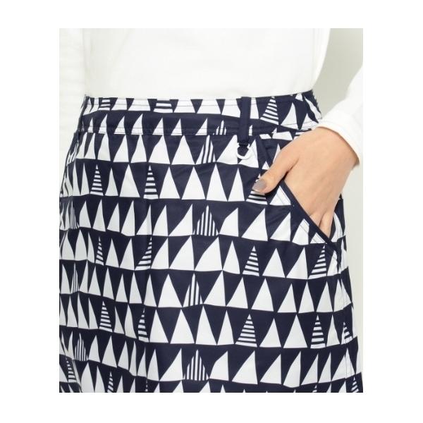 ジオメトリック柄リバーシブルスカート