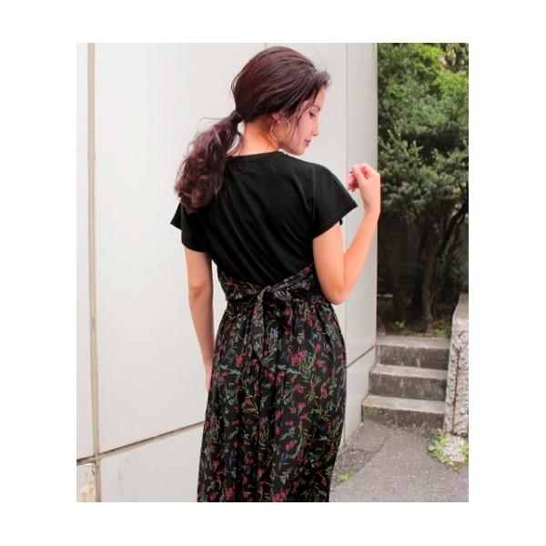【chille anap】花柄ビスチェ切替ワンピース