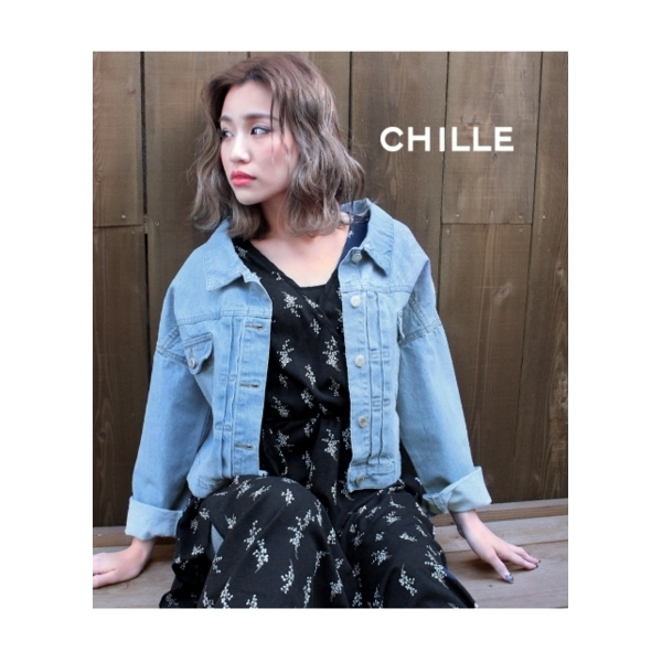 【CHILLE】ショート丈Gジャン