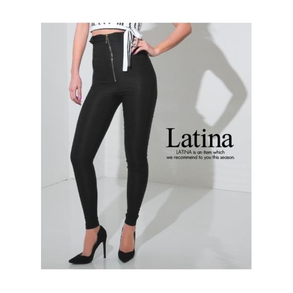 【Latina】ウエストデザインハイウエストZIPレギパン