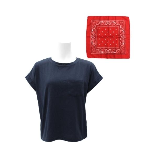 バンダナ付ドルマンTシャツ