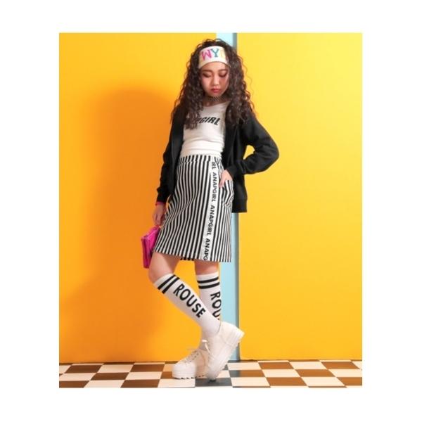 【ANAP GIRL】ニットツイルテープ付タイトスカート