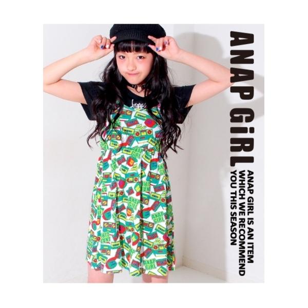 【ANAP GIRL】ラジカセ柄ワンピース
