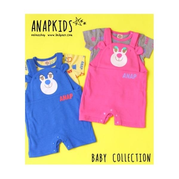 【ANAP KIDS】キャラクターサロペット+TシャツSET-UP