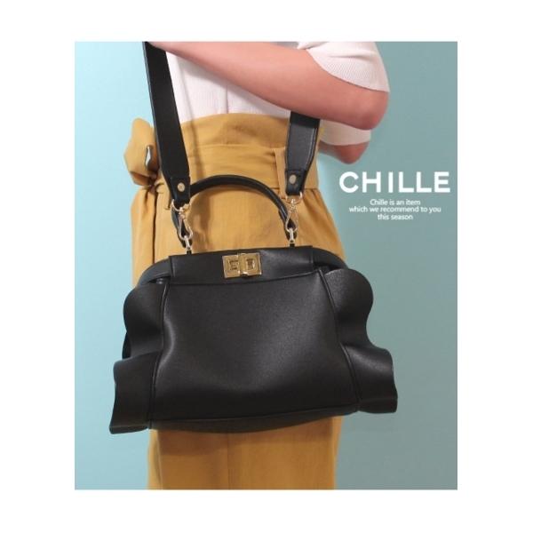 【CHILLE】フリルショルダーバッグ