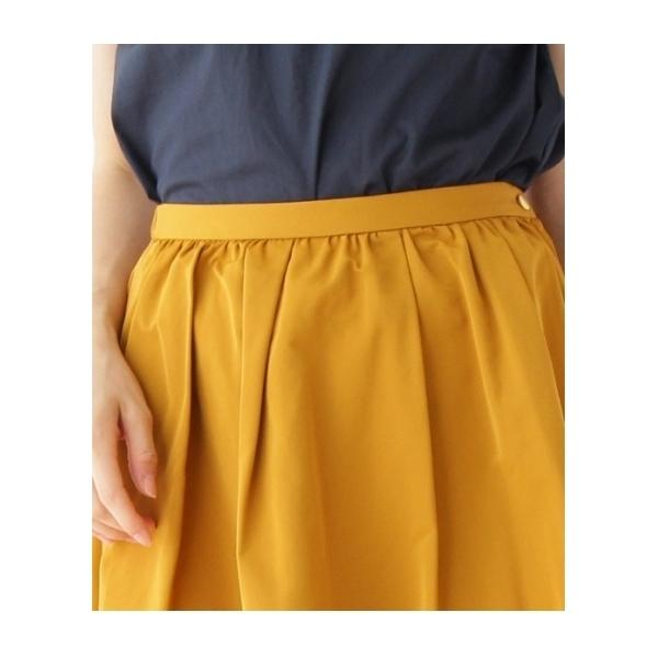 【SS・Lサイズあり 形状記憶グログランミモレ丈スカート】