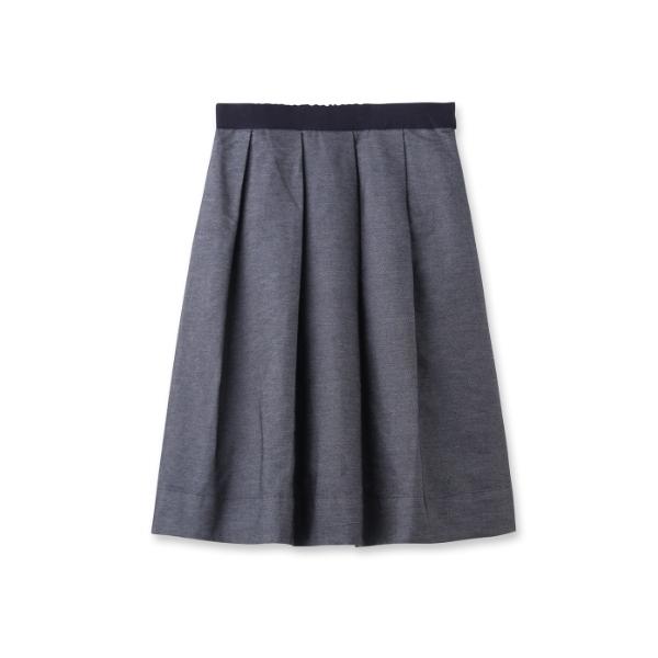 タフタデニムミディ丈スカート