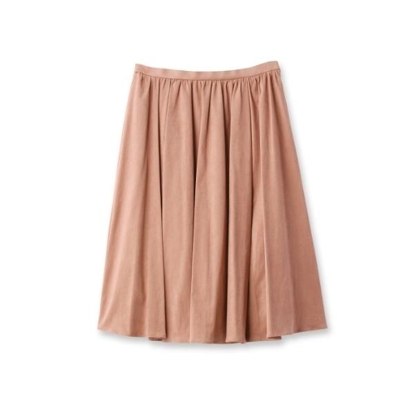 【SS・Lサイズあり コットンスエードギャザースカート】