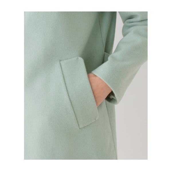 【Sサイズあり】スタンドカラーウールコート
