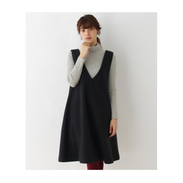 【Sサイズあり】ウール混Aラインジャンパースカート