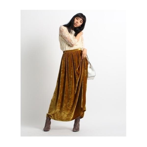 ベロアロングスカート