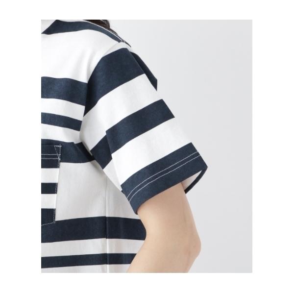 Tシャツ ボーダー クルーネック 14541