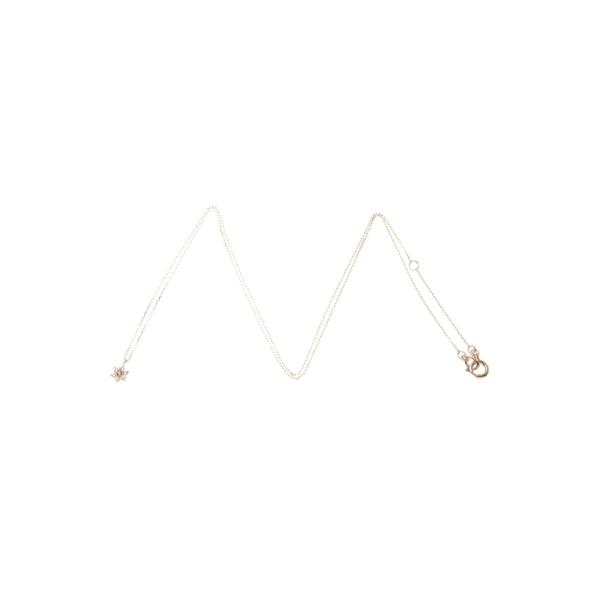 バースデイストーン(アメシスト2月)×ホワイトトパーズ ネックレス