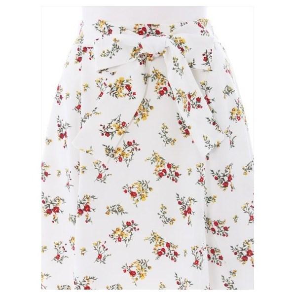 花柄テールカットスカート
