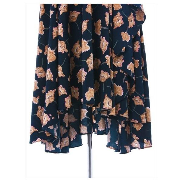 花柄レーヤードフリルスカート