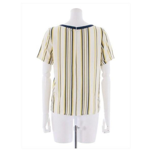 ストライプ布帛Tシャツ
