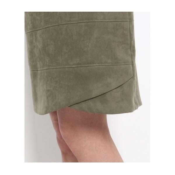 スエード調切り替えタイトスカート