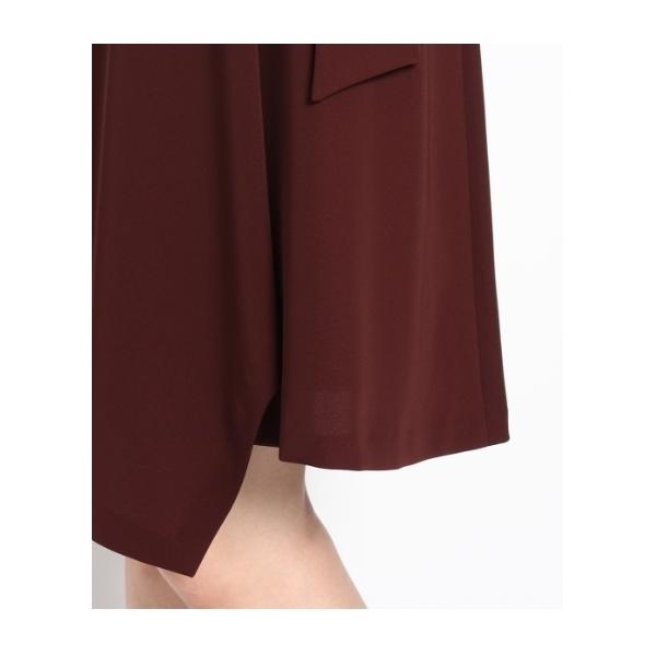 【洗える】ドビー地アシンメトリースカート