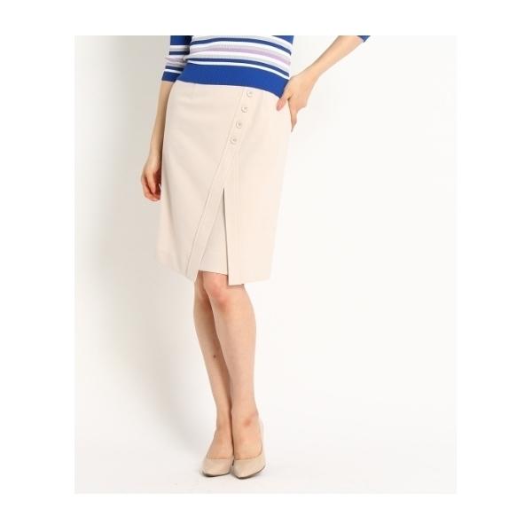 ストレッチフロントボタンデザインスカート