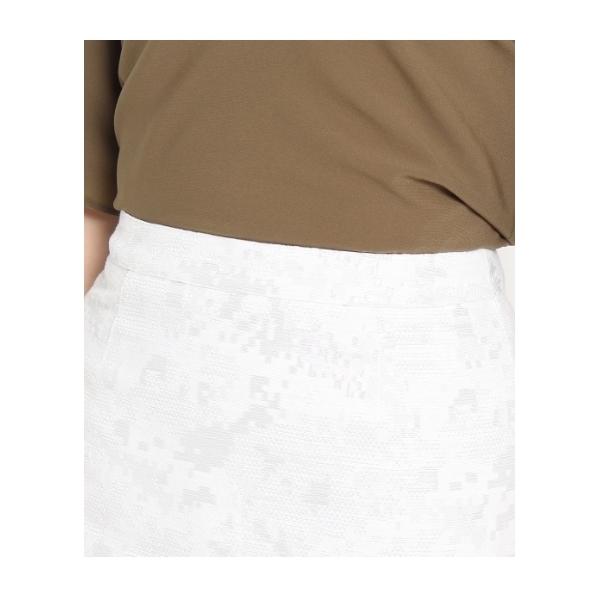 シャイニー幾何柄スカート