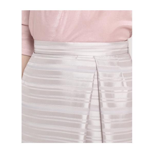 ラメシャイニーボーダースカート