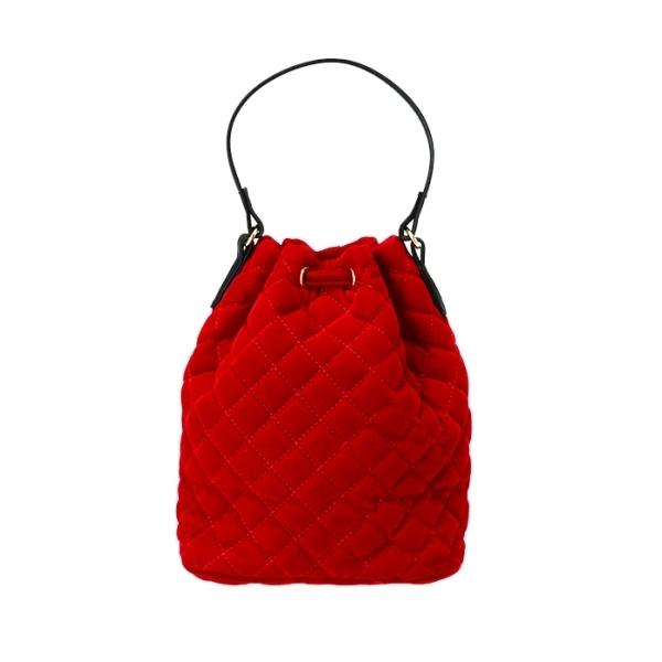キルティング巾着バッグ