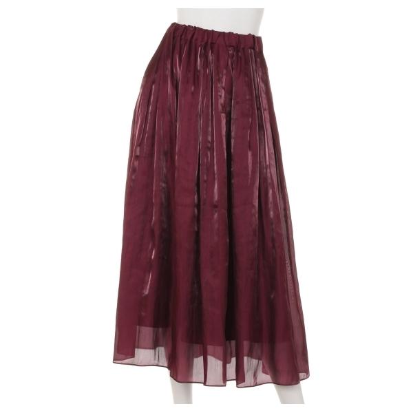 ブライトサテンギャザースカート