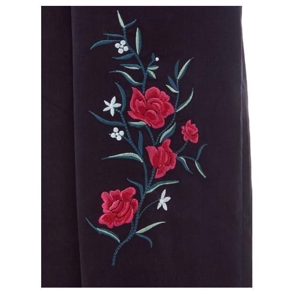 刺繍コーデュロイオールインワン