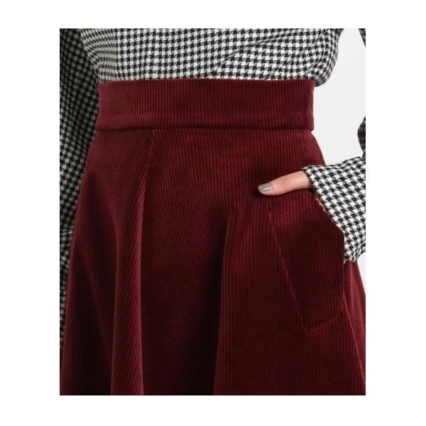 MARTIN GRANTコーデュロイミモレ丈スカート