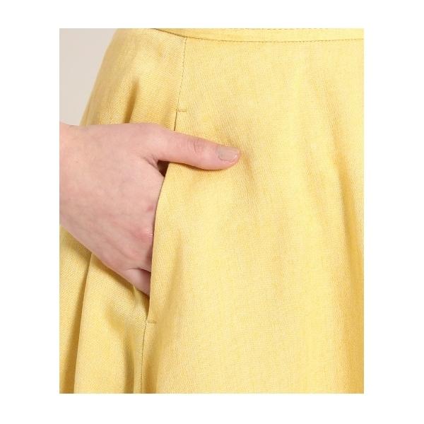 フレンチリネン フレアースカート