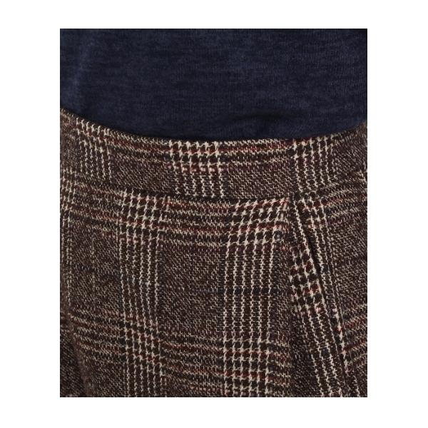 グレンチェックタックフレアスカート